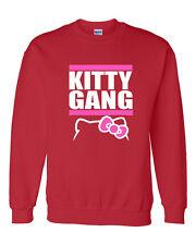 Kitty Gang Hello kitty tgod xo Taylor Gang wiz khalifa NEW Crewneck Sweatshirt