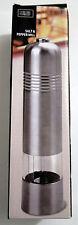 Electric Salt Pepper Mill Stainless Steel Spice Muller Ceramic Grinder W/ LED