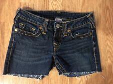 "Women's True Religion 28 Cut-off Jeans Denim Shorts. Inseam 3.5"". Cute!"
