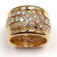 18k Rose Gold EP Briliant Cut Crystal Anniversary Ring