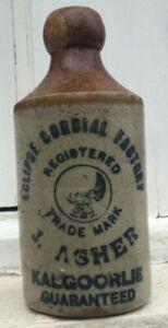 KALGOORLIE GINGER BEER BOTTLE EAGLE TM ECLIPSE CORDIAL FACTORY WA CIRCA 1910