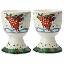 Maxwell & Williams Smile Style Egg Cup 2er-Set PIGASUS, Gift Box, porzella