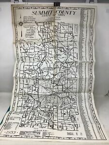 1955 SUMMIT County Map Ohio ( Akron, Canton)  VG++     B3