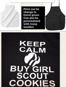Girl Scouts Apron Keep Calm And Buy Cookies Apron New Personalized #