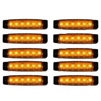 10 pcs 12V 6 LED marqueur indicateurs lumieres camion remorque lampeP4N4