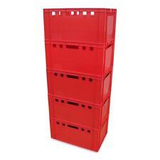 5 x Eurofleischerkiste Vorratsbox E3-Kiste Behälter Gemüsekiste stabelbar NEU.