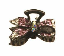 MiniE030 purple mini size hairstyling crystal embellished sequined jaw hair clip