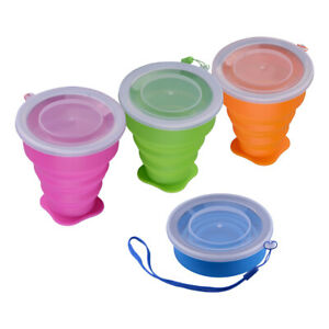 Portable Silicone Telescopic Drinking Collapsible Folding Camping Picnic Cup Al