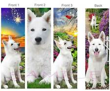 3 Lot- WHITE GERMAN SHEPHERD Dog BOOKMARKS Book Mark Card Art Beautiful Artisan