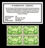 1936 - WASHINGTON - GREENE - Mint -MNH- Block of 4 Vintage Postage Stamps