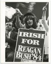 POLITICS 1984 REP NATL CONVENT IRISH 4 REAGAN VINTAGE 8X10 BW PHOTO