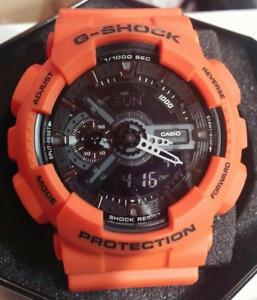 Casio G-SHOCK Analog-Digital Sport Quartz Men's Watch GA110MR-4A Orange