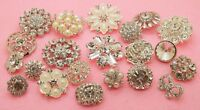 "9 Mixed 1//2/"" Sparkling Crystal//Rhinestone Metal Buttons~For Blouse//Cardigan M094"
