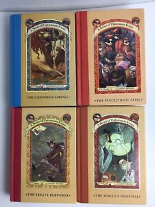 4 A Series of Unfortunate Events, Books #'s 6th, 8th, 9th & 12th