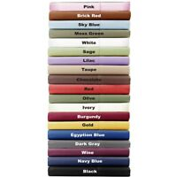 1000Thread Count 100%Egyptian Cotton All Bedding Item UK King-Size Solid Colors