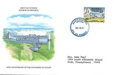 DOMINICAN REPUBLIC 1987 FIRST DAY COVER, FRANK FELIZ, SR. AND AIRCRAFT