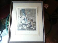 Jean-Micheal Moreau 18th century hand colored engraving