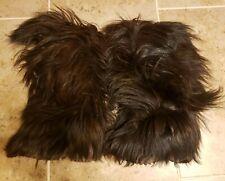 Vintage Lotto Skywalk Snow Boots Long Goat Hair Yeti Boots Italy Sz Us 5-6 Eu 36