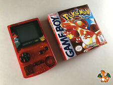 Nintendo Game Boy Color Translucent Red Pokemon Edition+Pokemon Red Ver Boxed