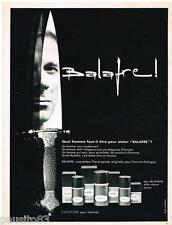 PUBLICITE ADVERTISING 095  1968  BALAFRE de LANCOME eau de toilette after-shave