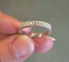 AVON STERLING SILVER AND CZ SPARKLING BAND RING SIZE 9
