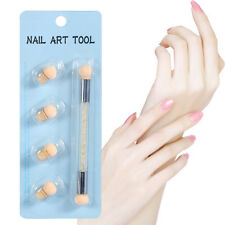 Dual head Nail Art Design Acrylic Painting UV Gel Pen Brush Set With Sponge Head
