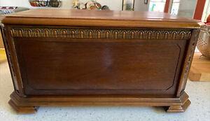 "Antique Small 1940's Keepsake Wood Chest Trunk 23"" x 15"" x 11"" Original Finish"