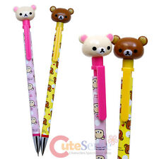 San X Rilakkuma Figure Top Mechanical Pencil Sharp Pencil 2pc Set