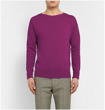 Burberry Prorsum Cashmere Boatneck Sweater Magenta Size Small BNWT