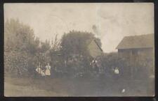 Postcard MILFORD CENTER Ohio/OH  William Whittemore Family in Yard view 1909