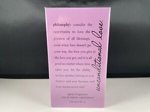 NEW, SEALED Philosophy Unconditional Love for Women 4.0 oz EDP Spray