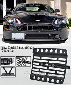 For 06-Up Aston Martin V8 V12 Vantage GT Front Tow Hook License Plate Relocator