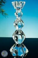 LEAD CRYSTAL MULTI FACETED CANDLESTICK