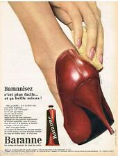 PUBLICITE ADVERTISING 105  1964   Le cirage chaussures BARANNE BARANNISEZ