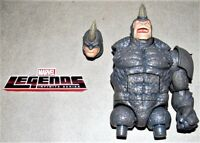 Marvel Legends Build A Figure Rhino BAF Upper Torso Head Left Arm (4) Piece Lot