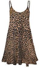 Ladies Womens Printed Cami Swing Dress Top Summer Long Vest Plus Size 8-26