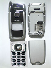 Full Silver black Cover Housing Fascia facia Faceplate case for nokia 6101