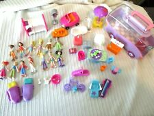 Polly Pocket Magnetic Girls Boys Figures and Dollhouse Furniture Accessories Lot