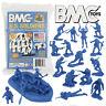 BMC Marx Recast WW2 US Marines Raft Paratrooper Figures Blue Plastic Army Men
