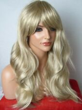 Blonde Sandy Full Womans real Natural wavy cosplay party ladies Wig C20