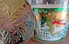 """Bath & Body Works Home """"Vanilla Bean Noel""""  3 Wick 14.5 oz Scented Candle New"""