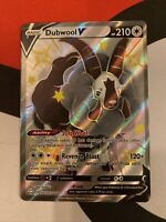 Pokemon Shining Fates Dubwool V SHINY Full Art Holo RARE SV120/SV122 NM/M!