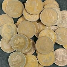British Ha'Pennies Job Lot 20 Old Half Penny Coins From 1896 To 1967 1/2d Copper