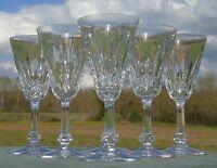 Baccarat - Service de 6 verres en cristal taillé, modèle Tourville. H.14,1