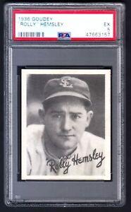 1936 Goudey Rollie Hemsley Browns PSA 5 - EX Fastest Man in the League Star