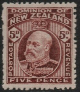 F2 ;1909 EDWARD VII 5d BROWN - MINT, VERY LIGHTLY HINGED (CAT. $35.00 MLH)