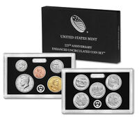 2017 225th Anniversary Enhanced Uncirculated Coin Set 17XC Mint Fresh Unopened
