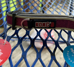 "KONG Padded Dog Collar - Comfort Maroon - Small 10"" to 14"" - NEW"