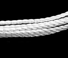 Solid 925 Sterling Silver Sparkle Pattern Twist Wire 2.03mm Dead Soft USA Made