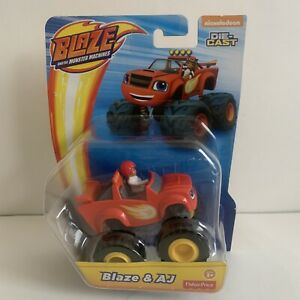 Blaze and the Monster Machines - Blaze and AJ Diecast Truck Vehicle Car